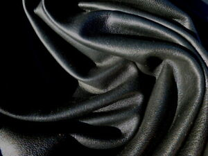 lambskin leather hide Jet Black smooth finish light weight buttersoft 1 1/2oz
