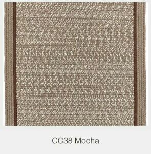 Casual Comfort Bordered Wool Country Cottage Home Classic Braided Rug Mocha CC38