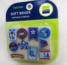 10 Patriotic Soft Brads Scrapbooking Crafts Card Making Around the Block Liberty