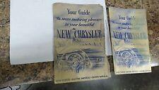 Original 1953 Chrysler New Yorker, Imperial, Crown Imperial Owners Manual