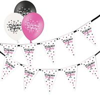 Divorce Cocktail Bunting 15 flags & Pack of 6  Printed Cocktail Asst Balloons