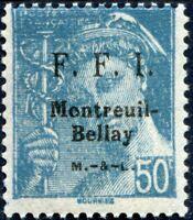 FRANCE LIBÉRATION MONTREUIL-BELLAY N° 32M NEUF** Texte Type 3 sur le Timbre