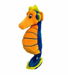 "BJ Toy Co Seahorse Plush Blue Orange Yellow Stuffed Animal Toy 10"" Ocean Fish"