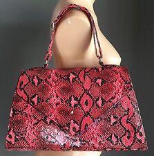Unique Black & Pink Snake Print DANGERFIELD Clutch Frame Bag