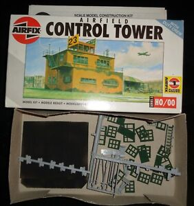 HO Scale Airfix # 03380 British WWII Airfield Control Tower Model Kit.