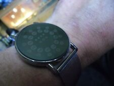 nice   gents futuristic binary LED  quartz  watch retro space age style