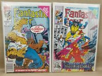 Marvel Comics FANTASTIC FOUR #367 and #368 in Cardboard Back Sleeves - VERY GOOD