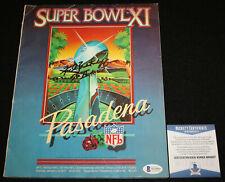 Fred Biletnikoff signed Super Bowl XI Program, Raiders, FSU, Beckett BAS WA99097