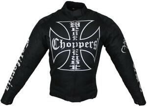 Motorrad Textil Jacke Sommer Choppers Biker Jacke mit Protektoren Custom Vintage