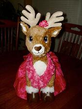 Build A Bear Plush Female Reindeer Stuffed Animal Blue Eyes w/Outfit Team Santa?