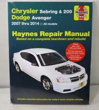 Repair Manual Haynes 25041 Chrysler Sebring & 200 Dodge Avenger 2007 thru 2014