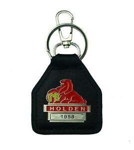 1958 Holden Real Leather and Metal Keyring / Keyfob