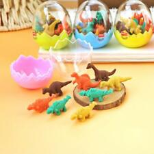 7Pcs/1egg Cute Mini Dinosaurs Pencil Rubber Eraser Students Office Stationery