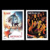 Monaco 2002 - EUROPA Stamps Circus Fine Art - Sc 2252/3 MNH