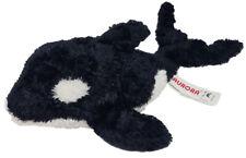 "Sea World Aurora Plush Shamu Orca Whale Stuffed Animal 10"" Black White"