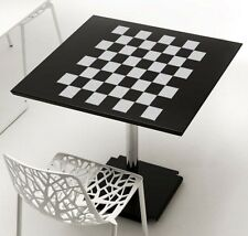 """Checkerboard Chess Board Design Frosted Etched Glass Vinyl Sticker Decal 11""""h"""