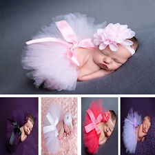 Newborn Baby Girl Crochet Knit Tutu Skirt Costume Photo Photography Prop Outfits