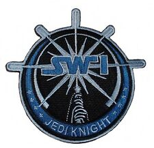 """Star Wars JEDI KNIGHT LIGHTSABER SW1 Logo 4 1/4"""" Tall Embroidered PATCH"""