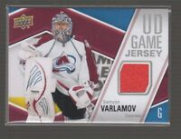 (69616) 2011-12 UPPER DECK GAME JERSEY SERIES TWO SEMYON VARLAMOV #GJ-SV