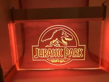 Jurassic Park Neon Sign Glass Etched