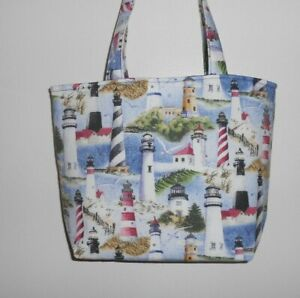 White Seagull cotton tote bag