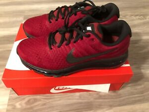 Nike Air Max 2017 Mens Size 9.5 Team Red & Black New With Box