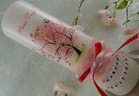 Taufkerze Kommunionkerze Lebensbaum rosa Taufkerzen Baum Mädchen mit Name Datum