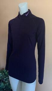 Nike Dri-fit PRO 1/3 Zip Running Athletic Pullover Sweatshirt Top Women's Size S
