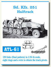 Friulmodel Metal Tracks for 1/35 German SdKfz.251 Half-track (120 links) ATL-61