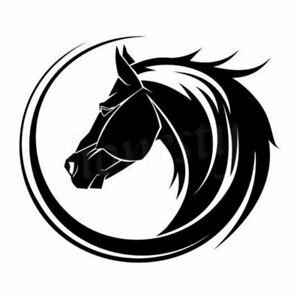 Arc Horse Head Window Home Car Wall Stickers Laptop Truck Black Vinyl Decal