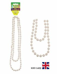 150cm Long PEARL NECKLACE Bead Rope Chain Vintage Wedding Bridal Costume NEW UK