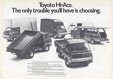 Toyota Hi-Ace Van Luton Tipmaster Minibus 1974-75 Original UK Sales Brochure