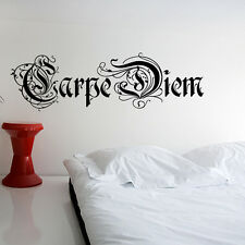 Wandtattoo Wandsticker Wand Aufkleber Zitat Spruch Carpe Diem Aufkleber WT064