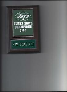 NEW YORK JETS SB BANNER PLAQUE NY SUPER BOWL CHAMPS CHAMPIONS FOOTBALL NFL