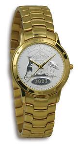 Mens Contemporay Australian Florin CoinWatch -Gold Florin coin dial and band