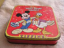 Cadbury's MIckey Donald Wonders Tiffins Tin
