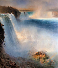 NIAGARA, cascate da parte americana Frederic EDWIN CHURCH COTONE CANVAS PRINT