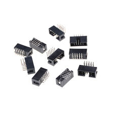 10PCS DC3-10P 2.54mm 2x5 Pin Right Angle Male Shrouded header IDC Socket LY