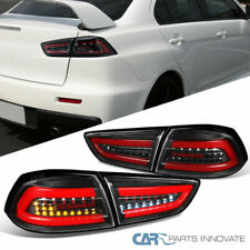 For Mitsubishi 08-17 Lancer 08-15 EVO X Red LED Bar Tail Lights Brake Lamps Rear