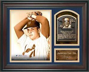 Tom Seaver Baseball Hall of Fame Framed 15x17 Collage w/ Facsimile Signature