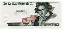 De La Rue Giori Specimen Test Trial UNC Banknote Beethoven Varinota Uniface #6