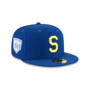 Seattle Pilots 1969 New Era MLB18 Inaugural Side Patch 59Fifty - Blue / Yellow