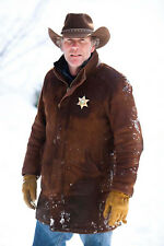Longmire - Sheriff Walt (ROBERT TAYLOR)  Brown Suede Real Leather Coat Jacket