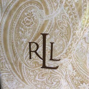 Ralph Lauren 60x84 Tablecloth YELLOW Veranda Paisley, Cotton, NIP - Free Ship