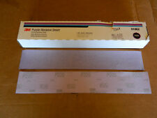 "NEW BOX 3M 01862 PURPLE HOOKIT FILE 50 SHEETS P220 GRADE GRIT 2-3/4"" x 16-1/2"""
