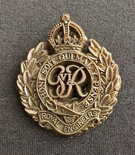 WW2 Royal Engineers Plastic Economy Issue x 100% Original Cap Badge