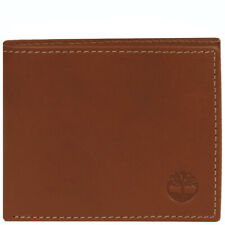 TIMBERLAND FIXED PASSCASE HUNTER BROWN LEATHER MENS BIFOLD ID WALLET BAG NIB