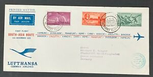 India stamps to date,First Flight SOUTH-ASIA ROUTE 1959