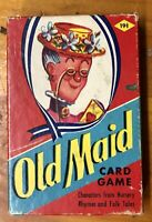 Vintage EARLY Old Maid Card Game EE Fairchild Classic Characters COMPLETE !!