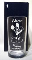 PERSONALISED  ENGRAVED DISNEY DESIGN ANY OCCASION HI BALL  / TUMBLER GLASS GIFT